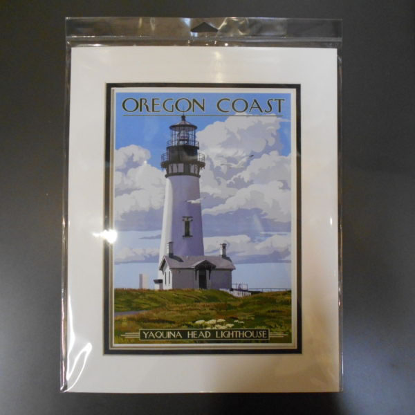 Matted Yaquina Head Print